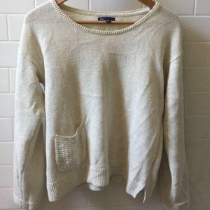 light sweater w/ pocket in front